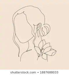 Female Face Drawing, Drawing Women, Woman Drawing, Minimalist Drawing, Minimalist Art, Beauty Salon Logo, Face Lines, Abstract Images, Akita