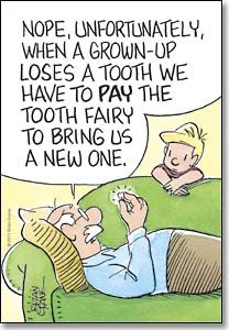 Pay The Tooth Fairy - Postcard - Sharper Cards