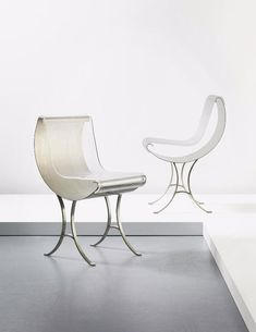 by Maria Pergay, born in 1930. First collection of stainless steel furniture was exhibited in 1968. In the 1970s in Saudi Arabia she designed palace interiors for the royal family. In the late 1980s - the 1990s she worked in Russia.  Since her show of new work in 2006 she has exhibited intern. incl. Paris, London and Korea. After a half century of creation, she  continues to surprise both herself and her collectors. She resides in Paris.