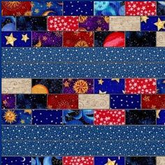 This quilt kit is a nice beginner easy to sew kit and perfect for your little astronomer and space lover. Quilting kit features cotton fabrics with 12 different celestial and space theme fabric prints