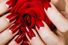 Photo about Elegant nail design. Woman hands with red rose. Image of manicure, petals, elegance - 6562253 Elegant Nail Designs, Red Nail Designs, Elegant Nails, Red Nail Art, Red Nail Polish, Red Nails, My Favorite Color, My Favorite Things, Moon Nails
