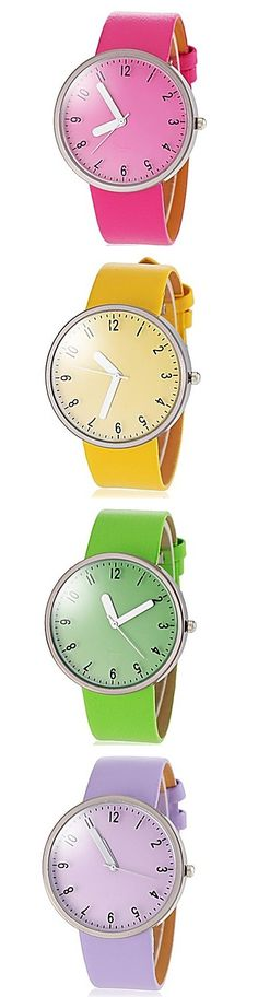 We love this stylish and colorful ladies' watch. Get it in every color now!