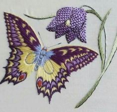 The Best Stitches In Embroidery - Embroidery Patterns Latest Embroidery Designs, Machine Embroidery Patterns, Embroidery Stitches, Embroidery Ideas, French Knot Stitch, Feather Stitch, Types Of Stitches, Thread Painting, Running Stitch