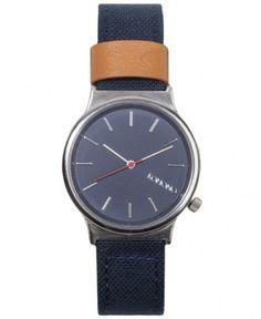 Komono - Wizard Heritage Watch (Silver Navy) - $75