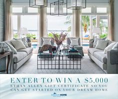 This is our tenth consecutive year dressing the HGTV® Dream Home. Enter to win a $5,000 gift certificate so you can dress your dream.