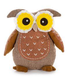 Look what I found on #zulily! Fabric Owl Decoration #zulilyfinds