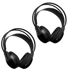 Pair Of 2 Channel Ir Wireless Car Audio Headphone Headset For Headrest Dvd Monitors.  #headrestdvdplayer #wirelessheadphones