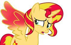 Princess Sunset Shimmer Worried Vector (BASED) by RealPinkieDianePie on DeviantArt