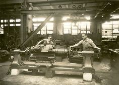 Men working in repair shop. Repair Shop, Concert, Painting, Men, Image, Shopping, Painting Art, Concerts, Paintings