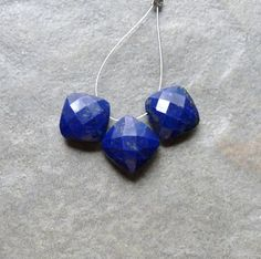 Lapis Lazuli Faceted Diamond Cushion Cut