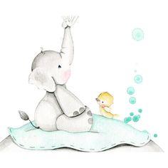 "Mural infantil personalizado ""elefantitos ii"" - Complementos de decoración infantil Elephant Pattern, Elephant Art, Elephant Nursery, Baby Animal Drawings, Cute Drawings, Safari Animals, Baby Animals, Tatty Teddy, Baby Posters"