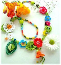 crochet necklace... by Lidia Luz