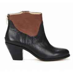 Lorin Booties in Black and Brown