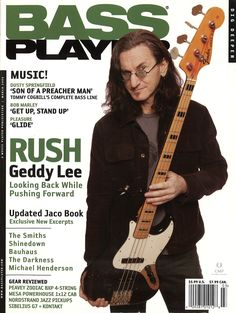 Geddy Lee with the..ah.. Geddy Lee Jazz bass.