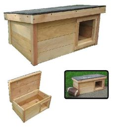 Need to make this for my cat.  Could use it as a bench outside also. Cedar Outdoor Cat House Shelter  RIGHT SIDE SQUARE by ArkWorkshop, $69.95