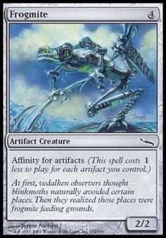 Frogmite ($.26) Price History from major stores - Mirrodin - MTGPrice.com Values for Ebay, Amazon and hobby stores!