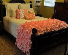Blush Ruffled Bedding by LikeMyMotherDoes on Etsy, $115.00 wish i could make one