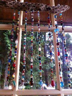 DIY Beaded Suncatcher Wind Chime by Ms Bijoux Beads, via Flickr