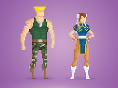 Your Greatest Childhood Heroes, Rendered in Delightful 8-Bit Pixels | Street Fighter  by Anthony Barros  | WIRED.com