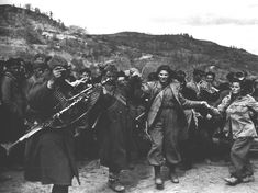 Greek communist guerrillas.