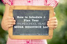 I've pulled together a MEGA RESOURCE list to help you schedule and plan your homeschool year.