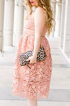 Valentine's Day Pink Dress Outfit! // A Sparkle Factor << #fashion
