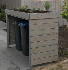 Back Garden Design, Backyard Garden Design, Backyard Projects, Outdoor Projects, Backyard Patio, Outdoor Trash Cans, Trash Can Storage Outdoor, Garbage Storage, Back Gardens