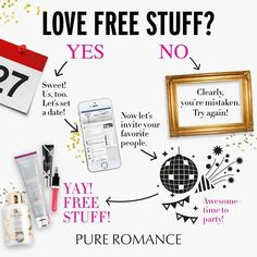 hostess with the mostess pure romance Pure Romance Games, Pure Romance Party, Romance Books, Host A Party, For Your Party, Hostess Wanted, Pure Romance Consultant, Passion Parties, Get Free Stuff