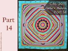 Here you can find all the video's for Sophie's Universe Crochet Along This beautiful blanket is designed by Dedri Uys from Look at what I made. If you want to look back on all the… Mandala Crochet Patron, Crochet Mandala Pattern, Crochet Squares, Crochet Granny, Crochet Yarn, Crochet Stitches, Crochet Patterns, Crochet Afghans, Granny Squares