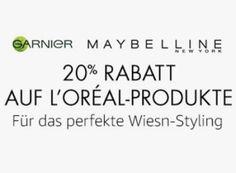 """Amazon: 20 Prozent Rabatt auf über 100 L'Oréal-Produkte https://www.discountfan.de/artikel/technik_und_haushalt/amazon-20-prozent-rabatt-auf-ueber-100-loreal-produkte.php Bei Amazon gibt es noch bis zum 10. September 20 Prozent Rabatt auf L'Oréal-Produkte """"für das perfekte Wiesn-Styling"""". Im Rahmen der Aktion sind über 100 Kostmetik- und Körperpflegeprodukte rabattiert im Angebot. Amazon: 20 Prozent Rabatt auf über 100 L'Oréal-Produkte... #K"""