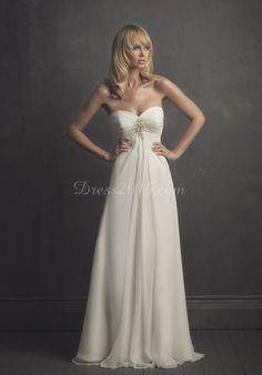 ruched bust empire Waist crystals Court Train wedding dress - Dress2015.com