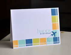 Birthday Plane Card by Maile Belles for Papertrey Ink (January 2013)