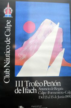 Regata #CalpeFormentera  III Trofeo Peñón de Ifach 1991 www.rcnc.es