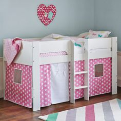 paddington mid sleeper bed with pink star play den beds u0026 mattresses 20percent off