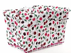 Cruiser Candy 2014 Reversible Bike Basket Liner (Cherry Pie) ** Additional info @ http://www.amazon.com/gp/product/B00KVT2WAQ/?tag=fitnessztore-20&puv=030816065501