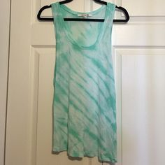 Green tie-dye tank Small tank top from Forever 21. Super soft and lightweight! In great condition! Forever 21 Tops Tank Tops