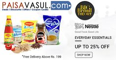 Snapdeal Offers: Upto 25% off on Everyday Essentials  http://www.paisavasul.com/code/snapdeal-offers-upto-25-off-on-everyday-essentials  #paisavasul #snapdeal  #dailyessentials #dailyneeds