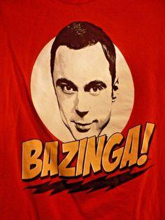 443478fc7 THE BIG BANG THEORY BAZINGA! Sheldon T-Shirt Men's Red Size S Novelty Funny  Nerd #RippleJunction #GraphicTee