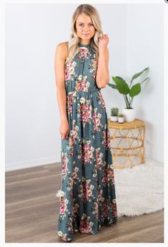 """Shop new arrivals at Beautique! Use the code """"aubree10"""" at checkout to receive 10% off your order every time you purchase!  #shopsmall #maxidress #floral #summer #summerfashion #womensfashion #clothes #halter Top Rated, Size Model, Delicate, Online Boutiques, Trendy Fashion, Flowers, Chic, Denim, Shabby Chic"""