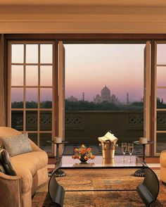 Seeing the #TajMahal is a once-in-a-lifetime experience and for a hotel stay thats equal in splendor book the #Oberoi Amarvilas on TripAdvisor (click the link in our bio). With its opulent rooms top-notch service and unparalleled views of the famous architectural wonder its the perfect place to make the most of your Agra #India trip.