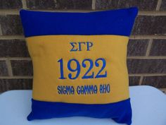 Sigma Gamma Rho 14 Color Blocked Pillow by MoDessaDesigns on Etsy, $20.00