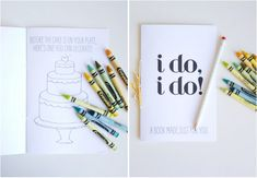 Give kids this wedding-themed activity booklet.