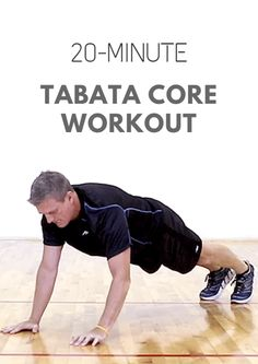 All it takes is 20 minutes and some space to do this quick, core-focused Tabata workout. Hiit Workouts For Men, Running Workouts, At Home Workouts, Foundation Training, Tabata Training, Physical Education Games, Health Education, Yoga Positions, Body Weight Training