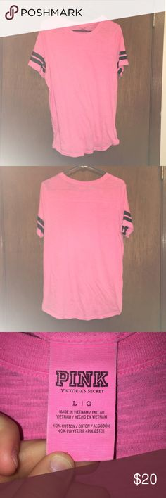 PINK Shirt 💗PINK Pink Shirt 🍩It is about see through  🎉No stains, rips or tears 🛍Bundle to save! 💌Ships Within 24 hours! ✨Smoke Free Home 🌈Pet Free Home 💓Make an Offer! 🎈Willing to trade, just ask! ⚡️Please address all concerns and questions before purchase! I'm here to help! 🍎Make sure to check out my page for more deals like this! Tops Tees - Short Sleeve