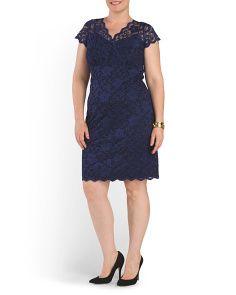 image of Plus Lace Cocktail Dress