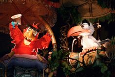Lost Disney Attractions - Iago and Zazu in the Enchanted Tiki Room in the Magic Kingdom
