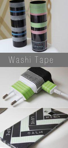 Sachen mit Washi Tape bekleben #washitape #washi #tape http://www.the-inspiring-life.com/2016/01/basteln-mit-washi-tape.html