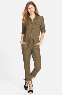 Treasure&Bond Draped Twill Jumpsuit (Online Only) available at #Nordstrom