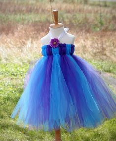 How to Make a Tulle Dress for a Little Girl.  I made this dress for my 2 year old grand daughter.  She wore it to her birthday party and was adorable.  It is easy and fun to make.