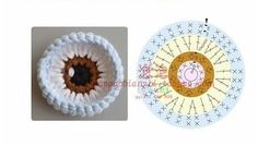 Ideas Crochet Amigurumi Eyes Ideas For 2019 Crochet Diy, Crochet Eyes, Crochet Motifs, Crochet Amigurumi, Amigurumi Patterns, Crochet Crafts, Crochet Dolls, Crochet Stitches, Crochet Projects